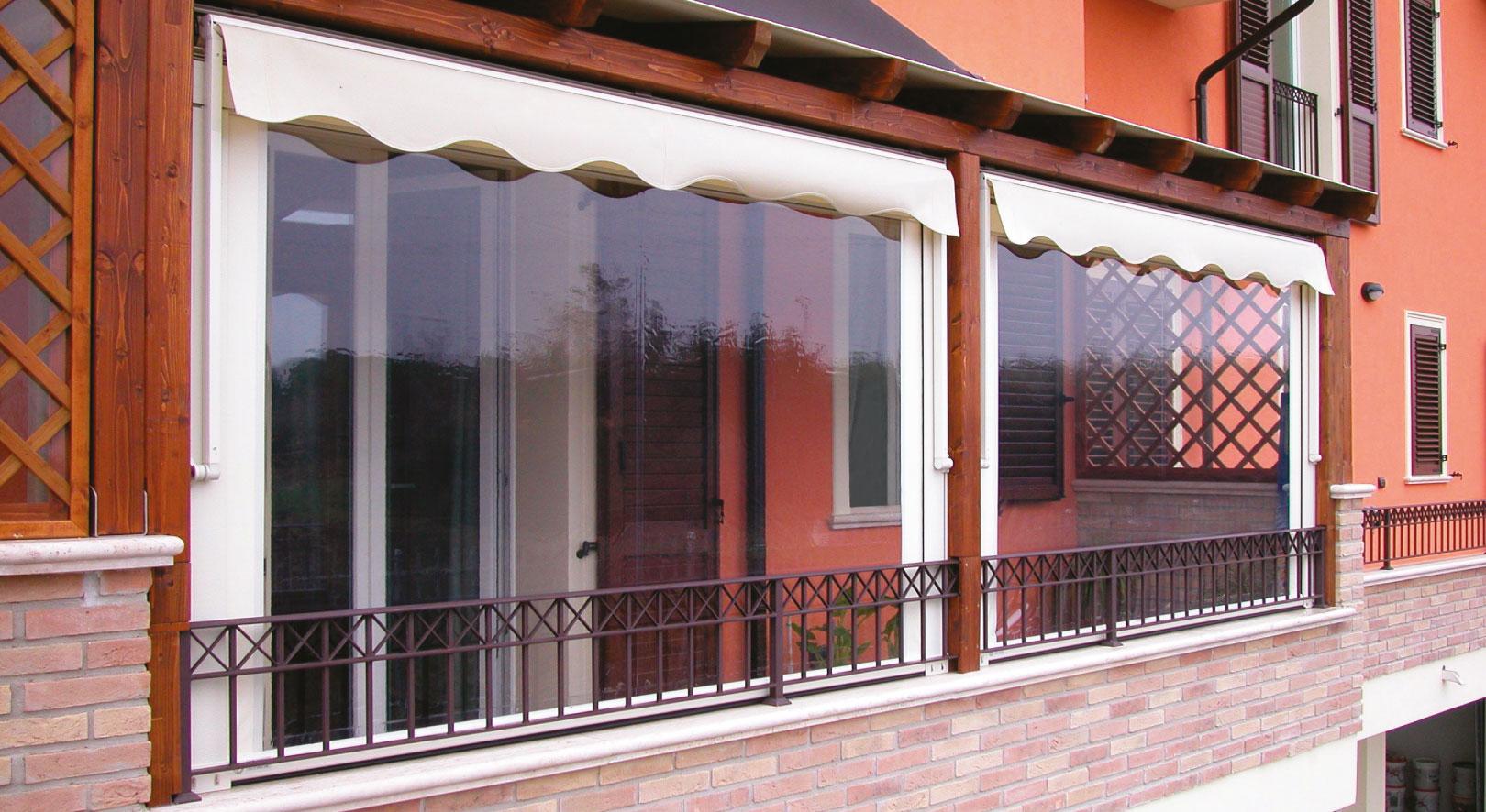 Coprire Terrazzo Con Veranda tende avvolgibili - protezione solare e chiusure invernali e